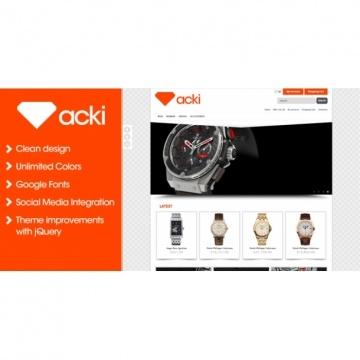 Acki | Beau, simple avec des effets subtiles aux bons endroits. A voir. | Demo: http://webbutvecklarna.com/opencart/acki/ | Prix: 35$