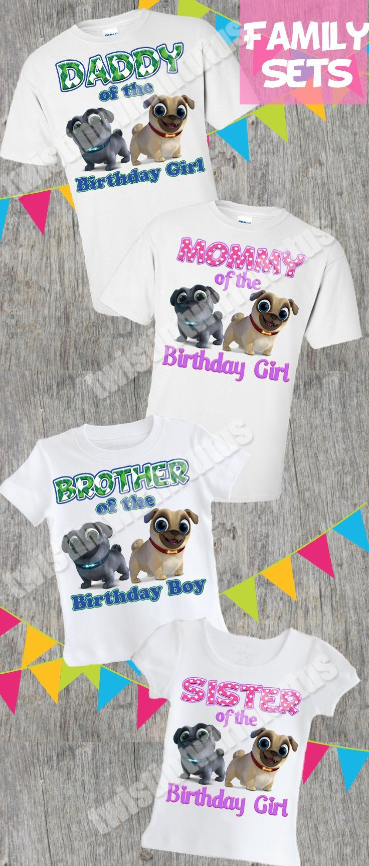Puppy Dog Pals Family Birthday Shirts Family Birthday Shirts Birthday Shirts Girls Birthday Party