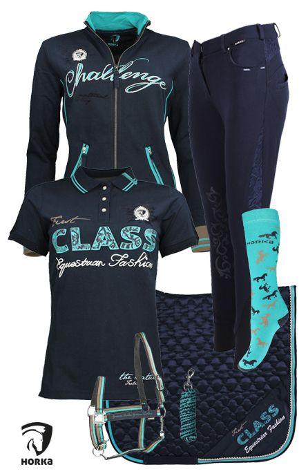 Horka Navy-Turquoise  #horka #summer17 #equestrian #fashionk