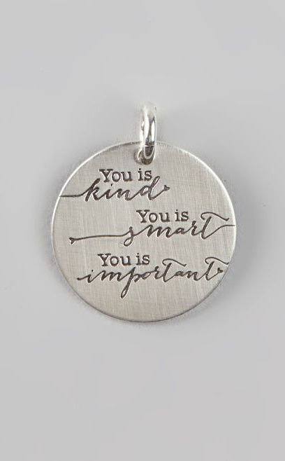 Sterling Silver 'You Is Kind' Charm