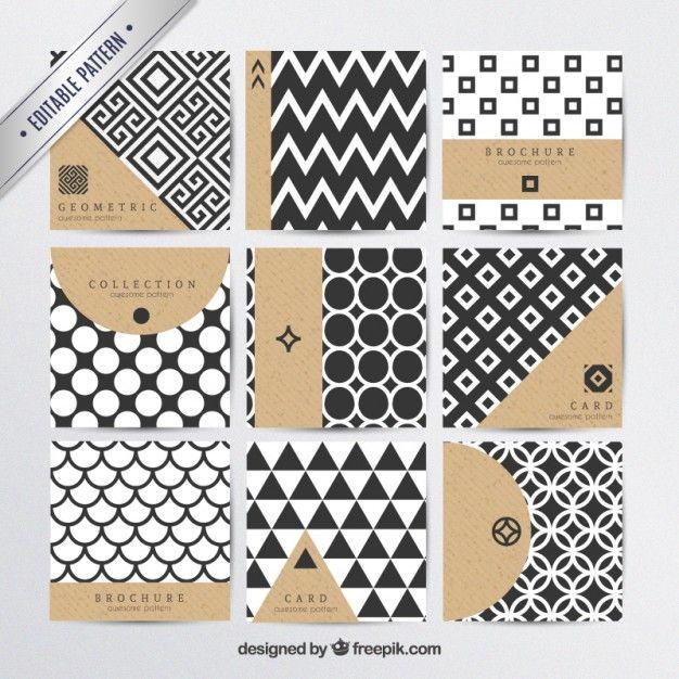 モダンなスタイルで幾何学模様