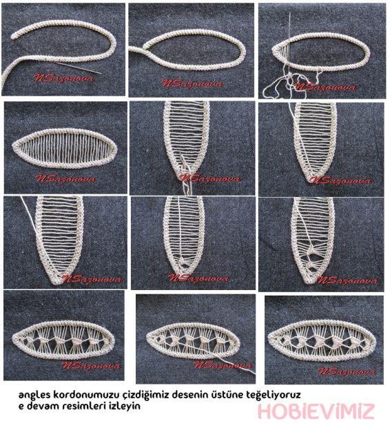 dantel angles yaprak nasıl yapılır - Dantel Anglez, Makreme