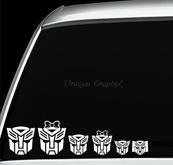 Autobot Family Vinyl Decal Window Sticker Transformers Autobots - Window stickers for cars uk