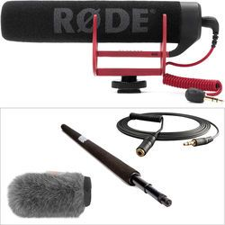 Rode VideoMic Go with Micro Boompole & Windbuster Kit