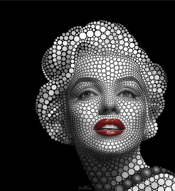 Fototapete Ben Heine »Circlism: Marilyn Monroe« in 2 Größen