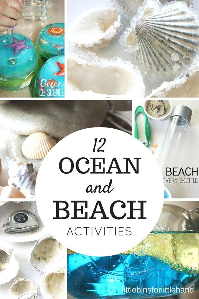 Ocean science activities for kids and beach activities. Simple Summer STEM and summer science experiments for preschool, kindergarten, and grade school kids.