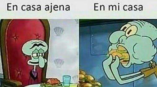 Comer en casa ajena Vs. Comer en mi casa :v Para más imágenes graciosas visita: https://www.Huevadas.net #meme #humor #chistes #viral #amor #huevadasnet