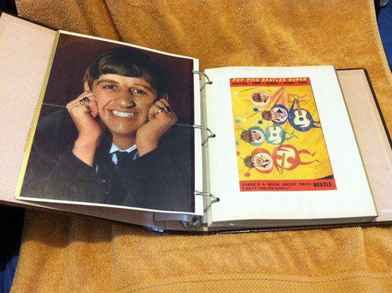 Beatles Scrapbook Newspaper Clippings History Vintage