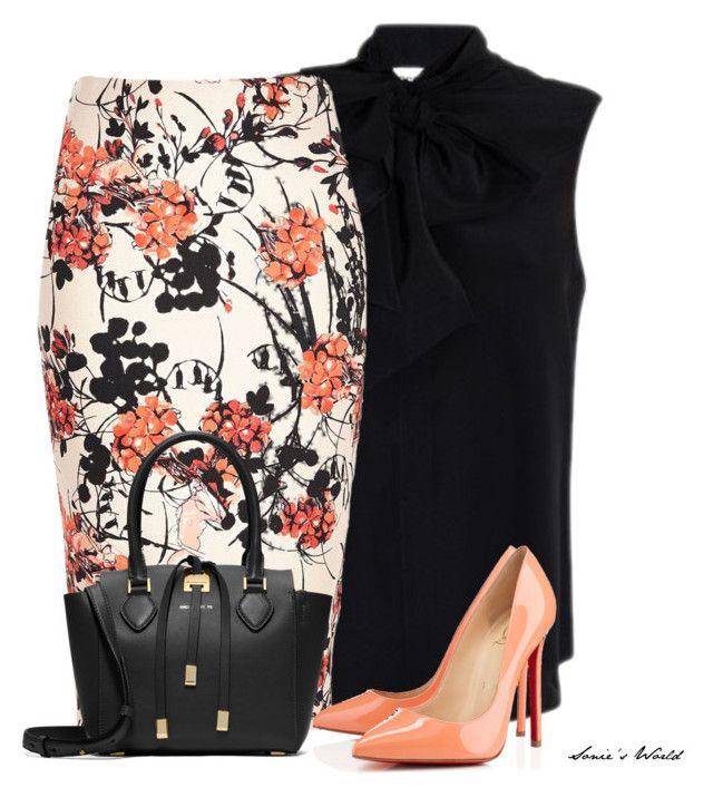 """""""Floral & Black"""" by sonies-world on Polyvore featuring Moschino, Christian Louboutin and Michael Kors"""