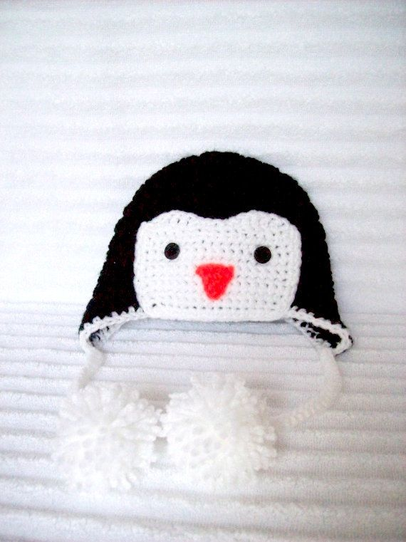 Baby Penguin hat newborn penguin hat crochet by NikkisCraftShoppe, $18.00
