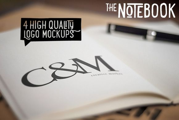 Check out The Notebook - Creative Logo Mockups by LayerLabs on Creative Market