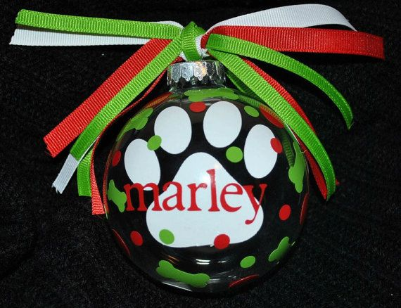 Personalized pet ornament paw print FREE shipping by AccentDeals, $13.99