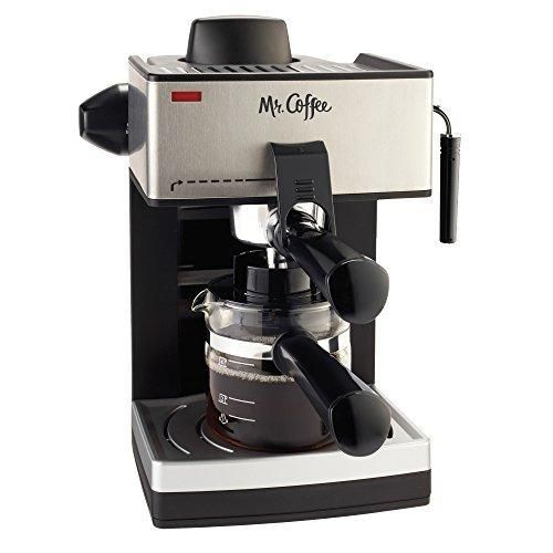 Mr. Coffee 4-Cup Steam Espresso System with Milk Frother ECM160