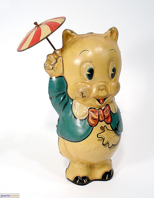 vintage tin toy