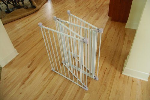 Carlson extra tall flexi pet gate is configuarble and perfect for unique openings. The all steel construction is chew proof and perfect for pets. The extra tall 38-inch gate and expands up to 76-inche...