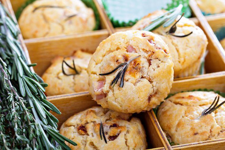 Slané muffiny s rajčaty a olivami