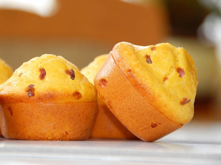 Spicy Corn Muffins made with soymilk! Recipe from @lovemysilk #soyswaps #soyfoodsmonth