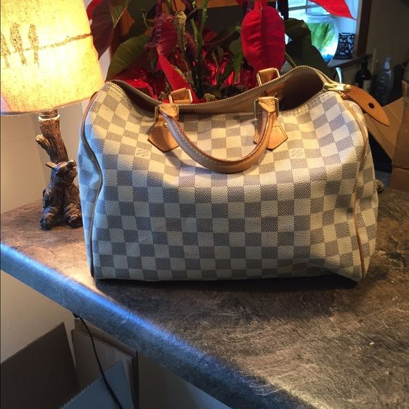 Louis Vuitton Speedy 35 Damier Azur canvas Non smoking/ gently used/ beautiful condition/ comes with dust bag/ Louis Vuitton Bags Totes