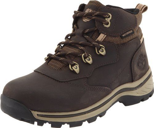 Timberland Whiteledge Waterproof Hiking Boot (Toddler/Little Kid/Big Kid) Timberland. $44.89. Manmade sole. Rustproof hardware for durability and an authentic Timberland look. Rubber hiking outsole with rugged tread for maximum traction on varied terrain. Leather and textile. Watertight construction for all-weather protection. EVA footbed for lightweight cushioning and shock absorption. Waterproof full-grain leather and nylon upper keeps feet dry