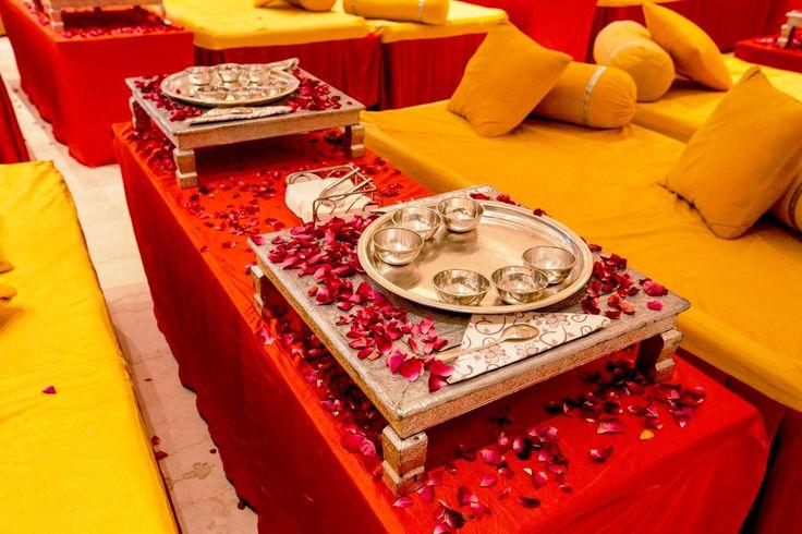 The #rich #Rajasthani #cuisine served in #silver #utensils makes you feel like a #royal #descendant. #royalweddinginspiration #marwariweddings #weddingsatkasturi