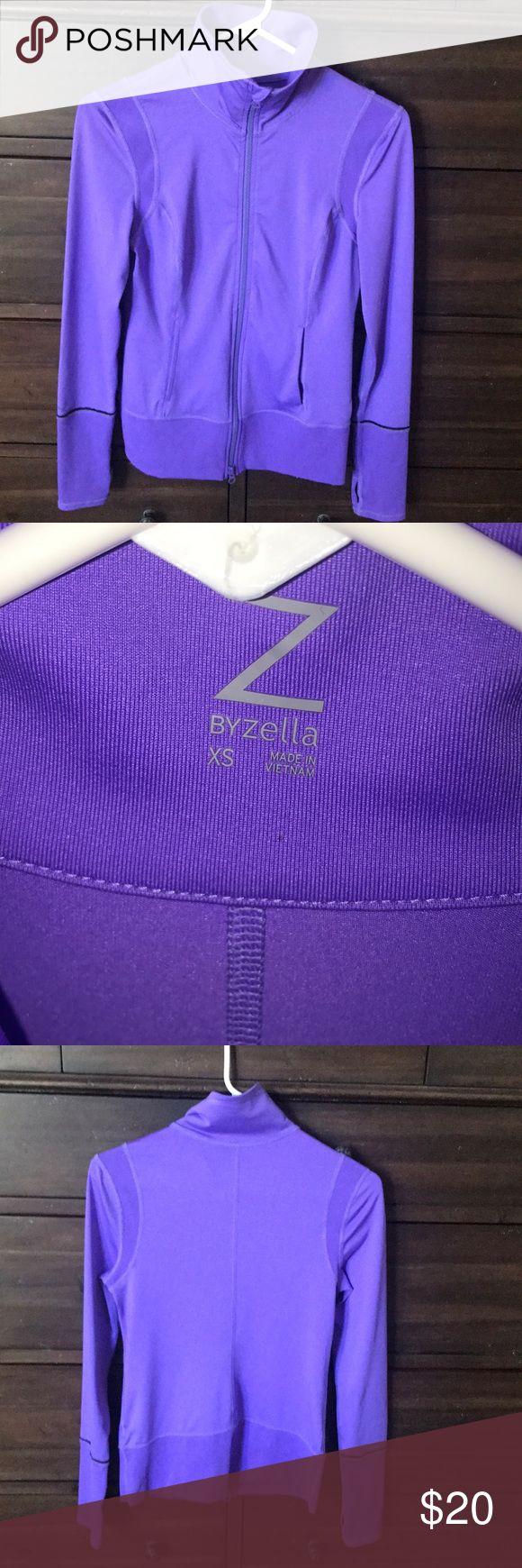 Zella purple zip up Zella size extra small purple workout jacket full zip pockets Zella Jackets & Coats