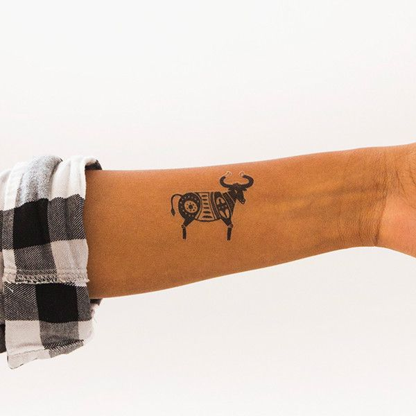 You are always growing and learning, Taurus. Design by Danielle Kroll, for Tattly temporary tattoos.