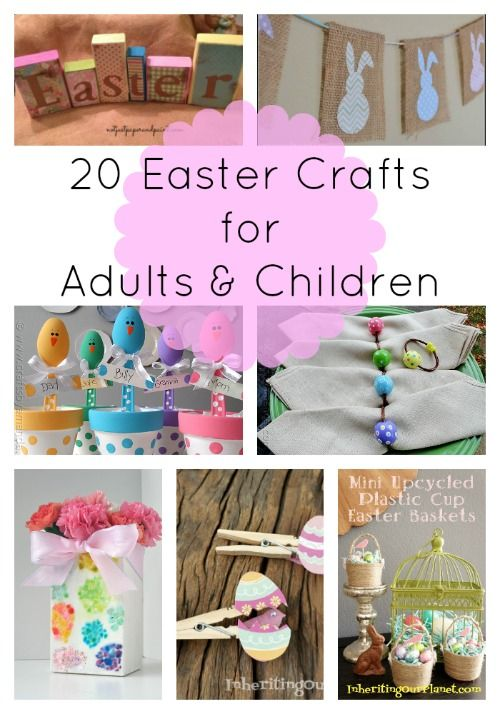 Wanting to get creative this Easter?  Check out this amazing list of 20 adorable DIY and crafts!  Some of these are perfect for adults to make and others will be great to make with your kids!