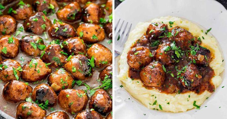 recept Masové kuličky s omáčkou - výborné k bramborové kaši