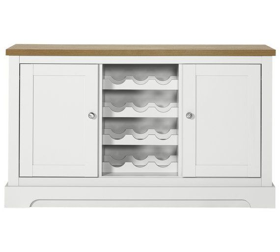 Buy Heart of House Westbury Sideboard with Wine Rack - White at Argos.co.uk, visit Argos.co.uk to shop online for Sideboards and dressers, Living room furniture, Home and garden