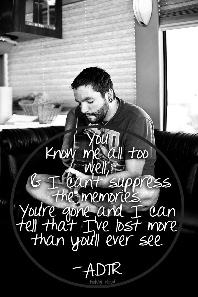 a day to remember lyrics -- end of me