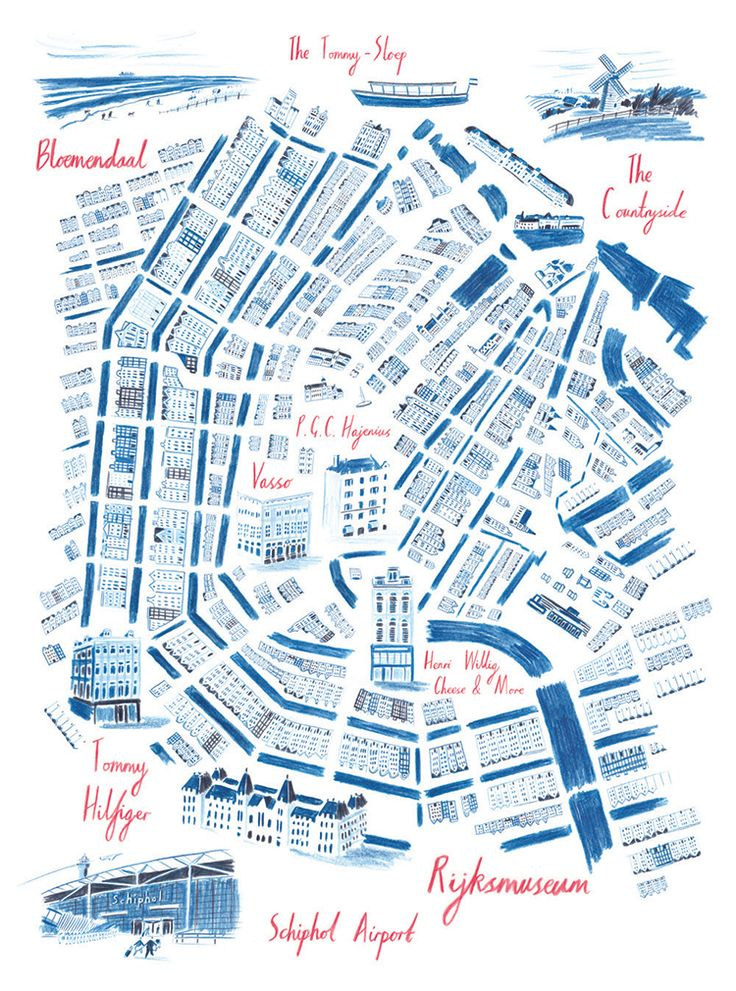 William Grill - Map of Amsterdam