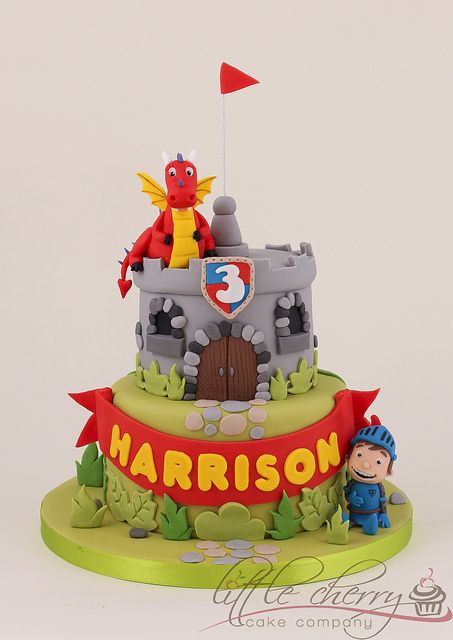 Mike the Knight Cake by Little Cherry Cake Company, via Flickr