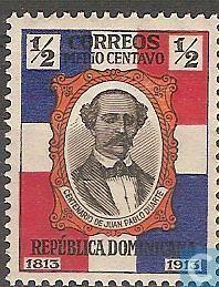 1914 Dominican Republic - 100th birthday of Juan Pablo Duarte