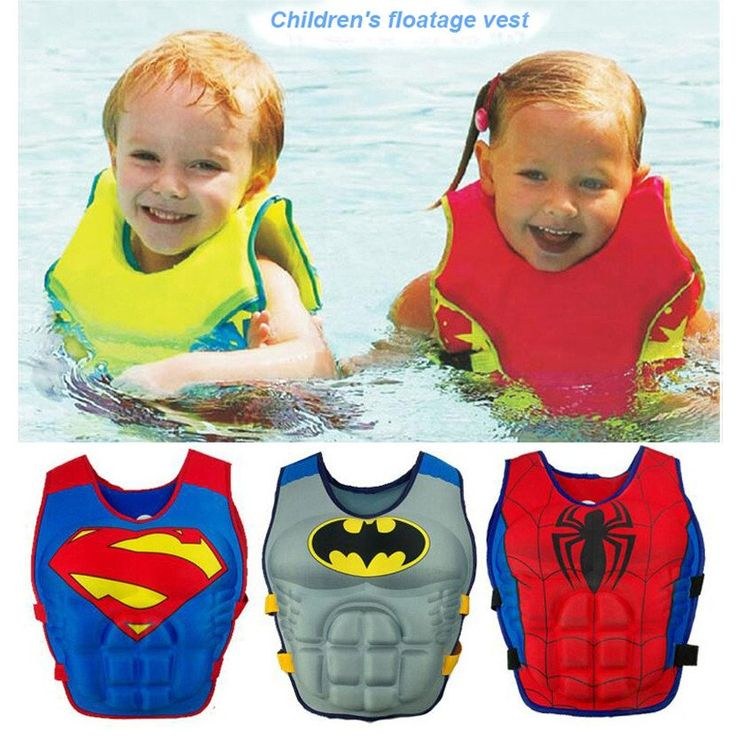 2-8 Years Baby Swim Vest  #SwimVest #Children #Baby #Superhero #Swimming
