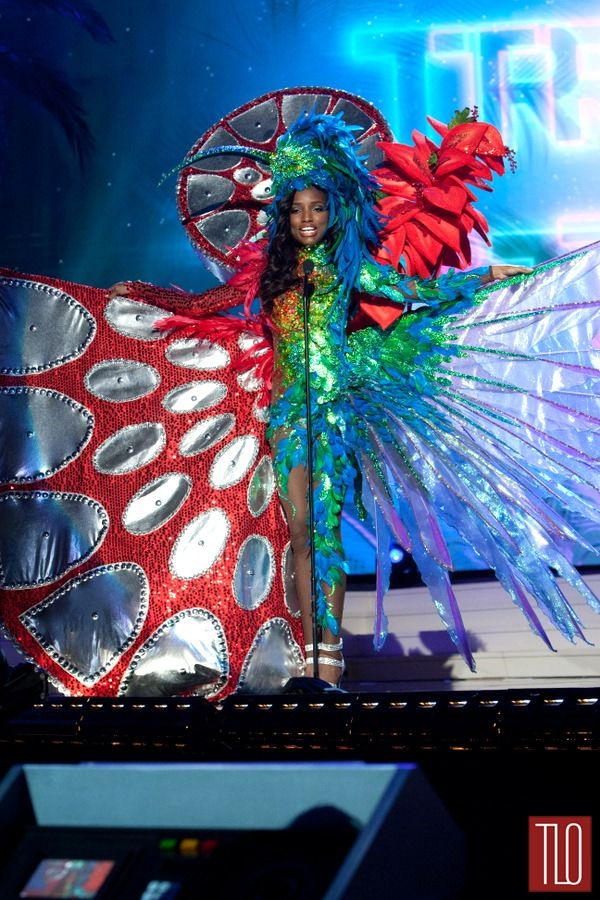 the national costumes at the miss universe pageant are amaze. even better? commentary by @tomandlorenzo