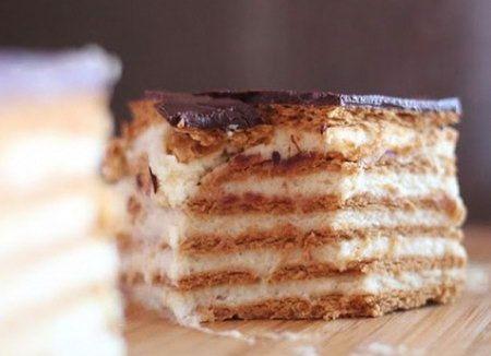 Торты из печенья. Рецепты тортов из печенья. Как правильно готовить торты из печенья. Как приготовить дома торт из печенья вкуснее, чем в ре...