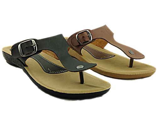 NEW! Ladies/ Girls Faux Leather Slip On Toe Post Flip Flop £6.99