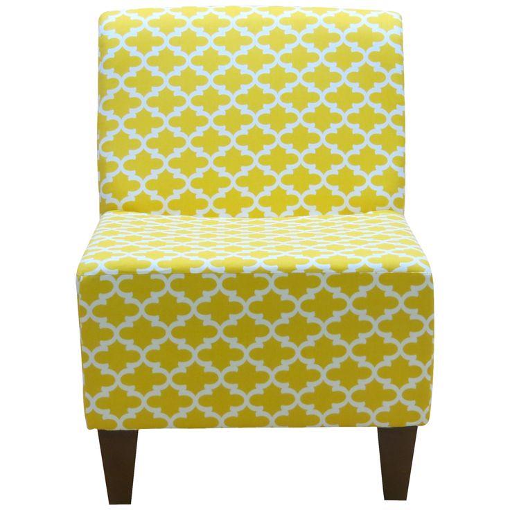 Penelope Armless Fulton Corn Yellow Slipper Chair