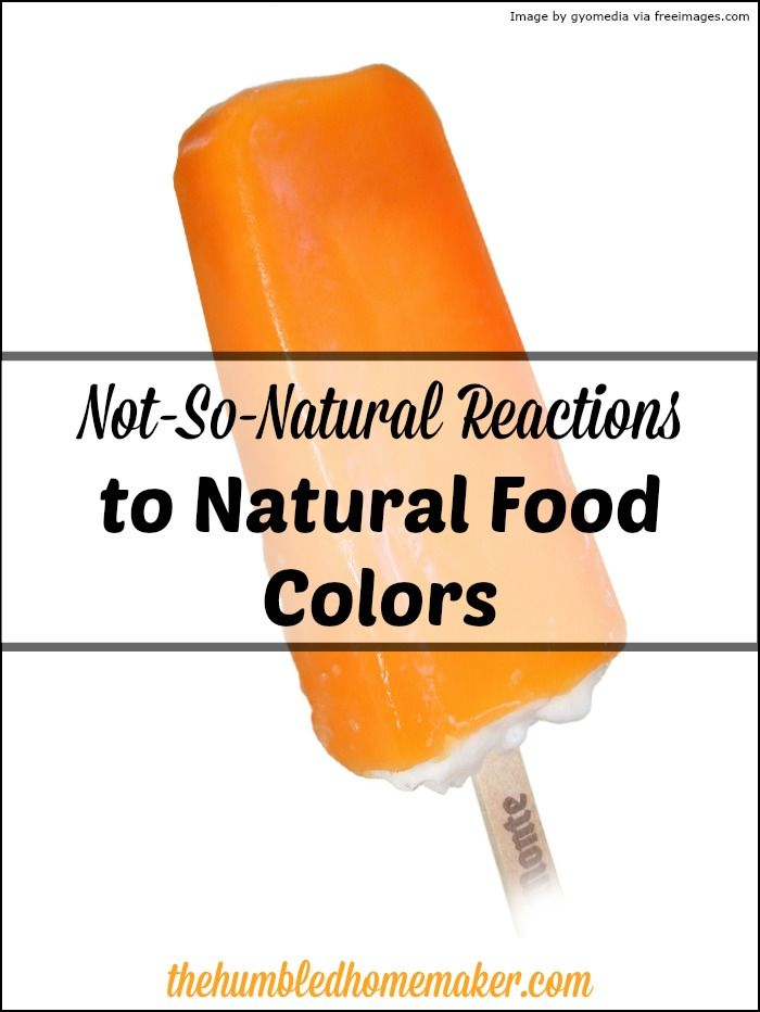 Not-So-Natural Reactions to Natural Food ColorsErin @ The Humbled Homemaker