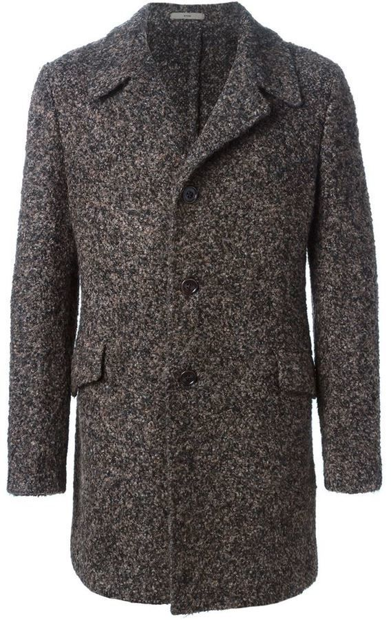 $664, Boglioli Single Breasted Coat. Sold by farfetch.com. Click for more info: https://lookastic.com/men/shop_items/365128/redirect