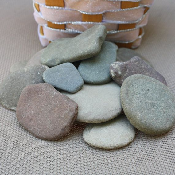 20 Large Flat Wishing Stones  Guest Book Stones by LakefrontLiving
