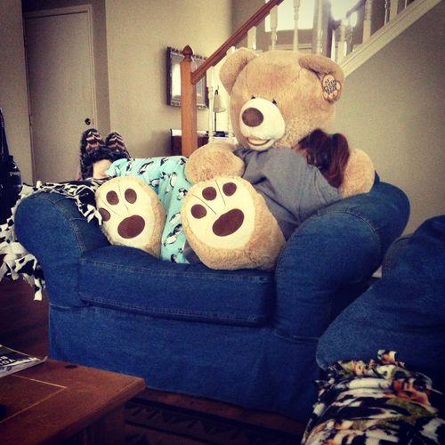 That teddy bear...