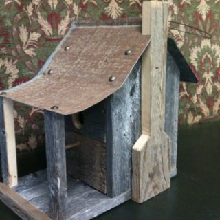Birdhouse with a front porch...how cute is that!