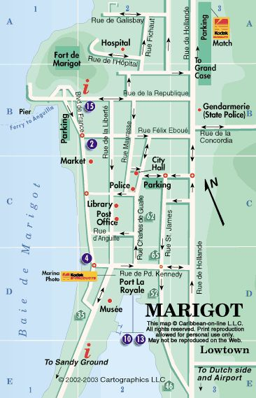 marigot st martin | Map of Marigot, St. Martin, French West Indies