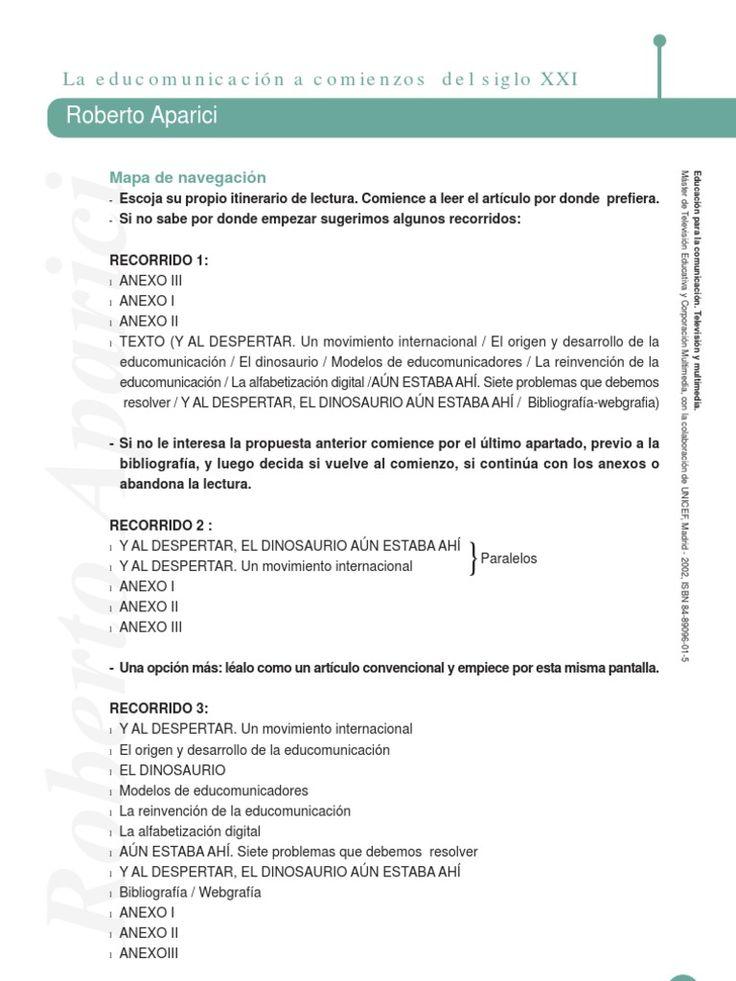 Texto Educomunicación Aparici
