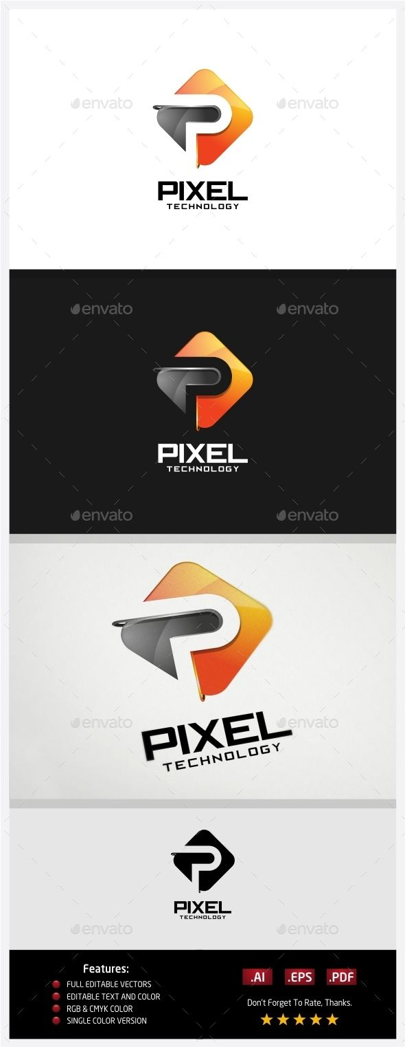 Pixel Technology  Logo Design Template Vector #logotype Download it here: http://graphicriver.net/item/pixel-technology-logo/10430585?s_rank=1461?ref=nesto