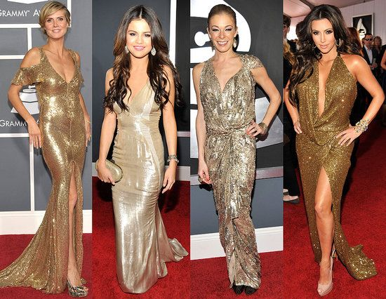 What color shoes goes with a gold dress