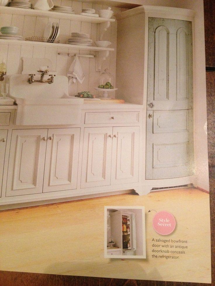 How to Camouflage a Door | Old door to hide fridge! | DIY Furntiure | Pinterest