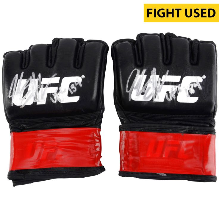 Jake Ellenberger Ultimate Fighting Championship Fanatics Authentic Autographed UFC 184 Fight-Worn Pair of Gloves with UFC 184 Inscription - Defeated Josh Koscheck via 2nd Round Submission - $599.99