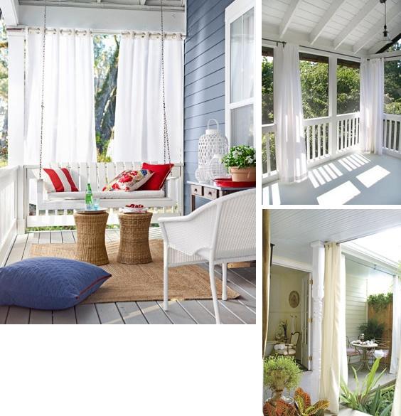 Porch Drapery Inspiration Porch Pinterest Front Porch Curtains